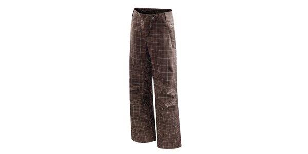 Dámské tmavě hnědé kostkované lyžařské kalhoty Hannah