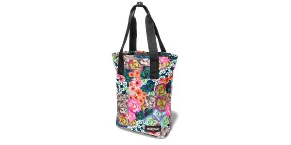 Dámská pestrobarevná taška Eastpak s květinovým potiskem