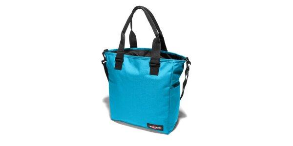 Dámská azurově modrá taška Eastpak s černými detaily