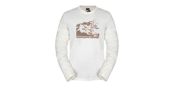 Pánské bílé triko Hannah s dlouhým rukávem