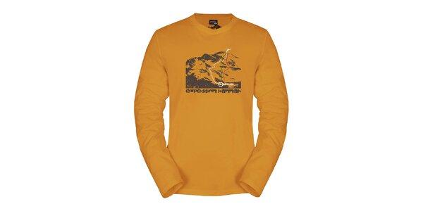 Pánské oranžové triko Hannah s dlouhým rukávem