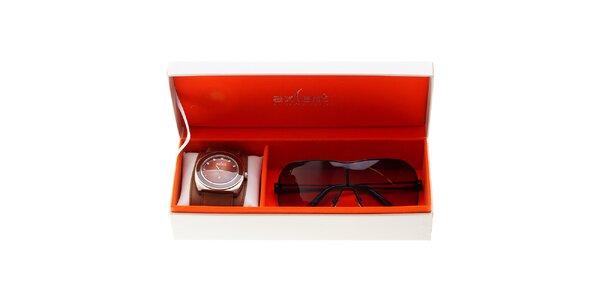 Sada pánských náramkových hodinek a slunečních brýlí Axcent