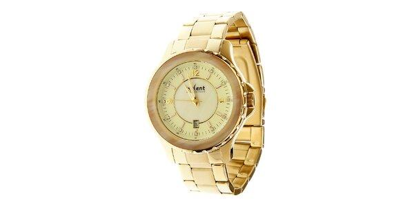 Dámské zlaté ocelové hodinky Axcent