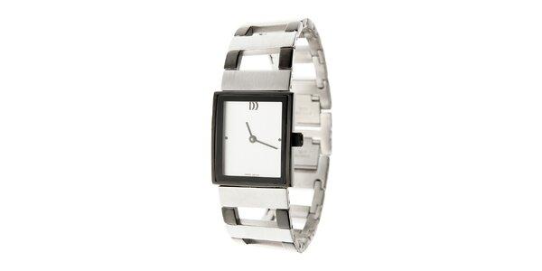 Dámské ocelové hodinky Danish Design s bílým ciferníkem