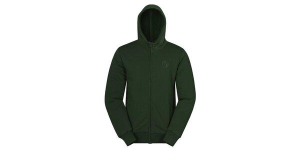 Pánská tmavě zelená mikina Hannah s kapucí