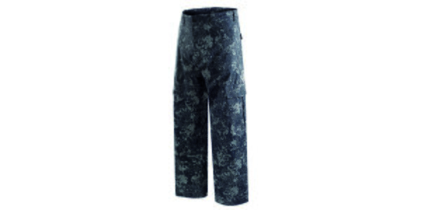 Pánské tmavě modré snowboardové kalhoty s potiskem