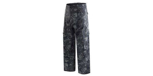 Pánské tmavě šedé snowboardové kalhoty s potiskem