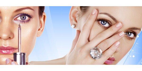 Liftingová masáž očního okolí a parafínový zábal na ruce