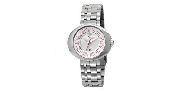 Dámské stříbrné hodinky s oválným displejem Replay