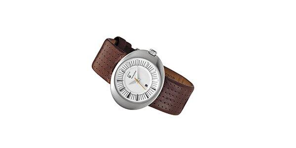 Dámské analogové hodinky s hnědým náramkem Replay