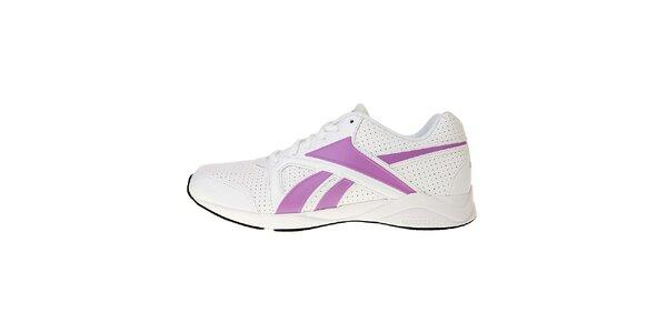 Dámské bílé sportovní boty Reebok s růžovými detaily