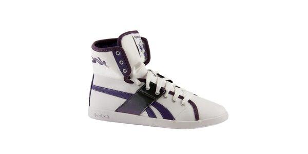 Dámské bílo-fialové kotníkové tenisky Reebook