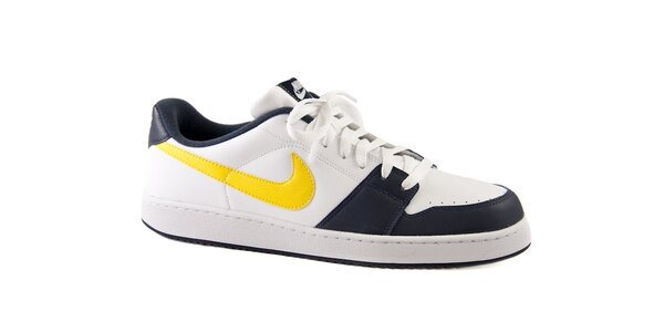 Pánské černo-bílé kožené tenisky Nike