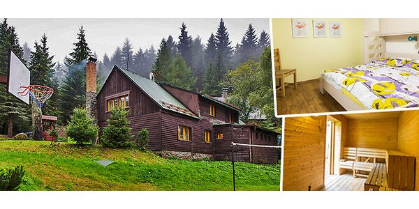 Pronájem luxusní horské chaty (24 lůžek) u SKI areálu Klepáčov - Jeseníky