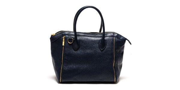Dámská modrá kabelka se zipy Luisa Vannini
