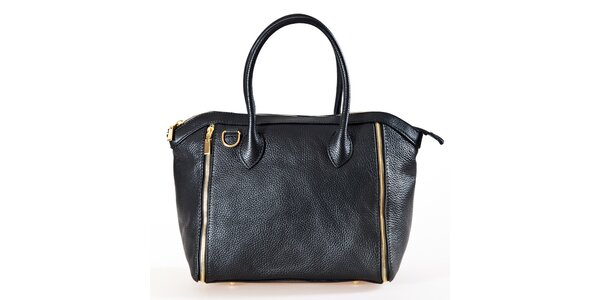 Dámská černá kabelka se zipy Luisa Vannini