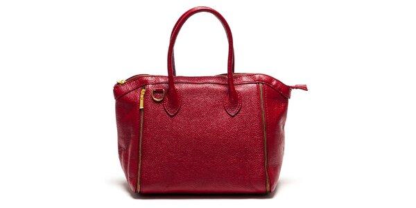 Dámská červená kabelka se zipy Luisa Vannini