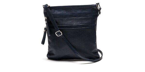 Dámská tmavě modrá kožená kabelka Luisa Vannini