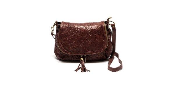 Dámská kožená kabelka se vzorem Luisa Vannini