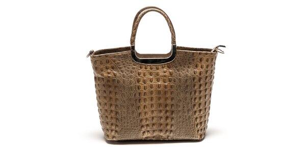 Dámská kabelka z pravé kůže v hnědé barvě Luisa Vannini