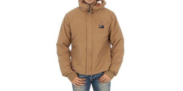 Pánská béžová bunda Bench s kapucí
