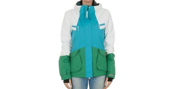 Dámská zimní bunda Bench modro-zelená