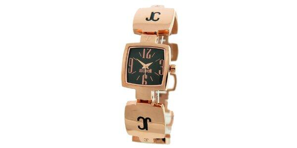 Dámské ocelové náramkové hodinky Just Cavalli v růžově zlaté barvě
