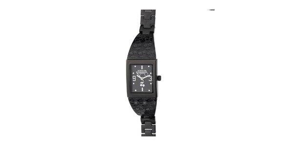 Dámské černé hodinky s třešničkami Le Temps des Cerises