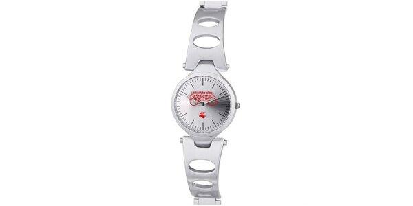 Dámské hodinky ve stříbrné barvě Le Temps des Cerises