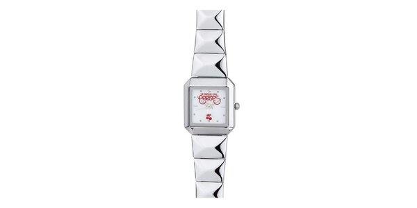 Dámské hodinky s červenými detaily Le Temps des Cerises
