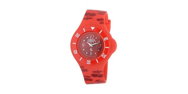 Dámské červené hodinky Le Temps des Cerises