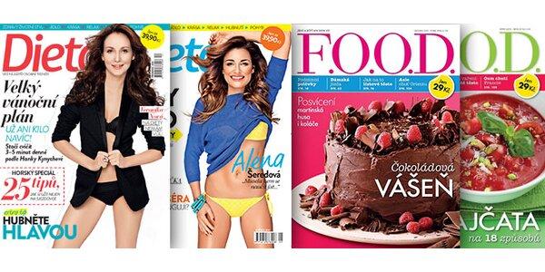 Roční předplatné časopisů F.O.O.D. nebo Dieta