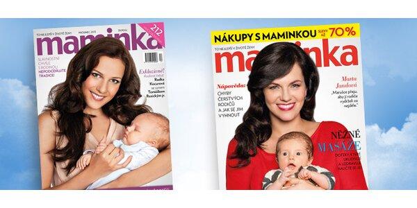 Dárkové roční předplatné časopisu Maminka