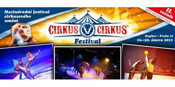250 Kč za lístek na mezinárodní soutěžní festival Cirkus Cirkus. Sleva 44%.