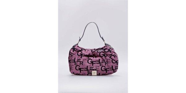 Dámská růžová kabelka s písmenky Gianfranco Ferré