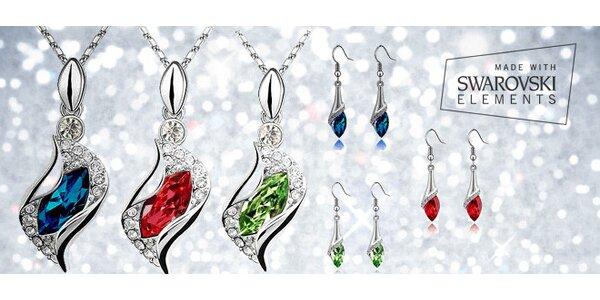 Set šperků Angel Drop s barevnými krystalky