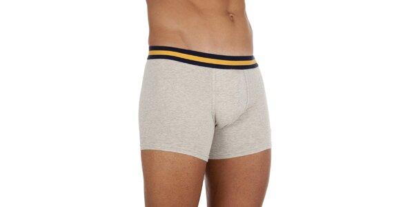 Melírované šedivé boxerky Ralph Lauren