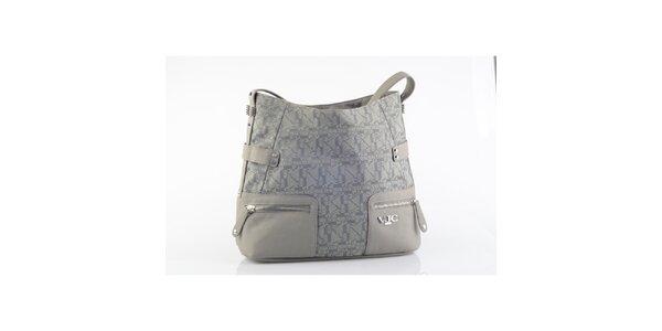 Dámská šedá kabelka se vzorem Versace