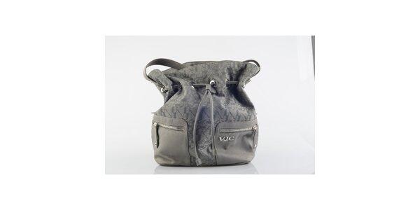 Dámská šedá vzorovaná kabelka Versace