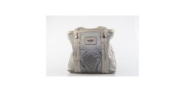 Dámská šedivá kabelka s cvočky Versace