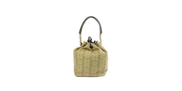 Dámská béžová kabelka se vzorem Just Cavalli