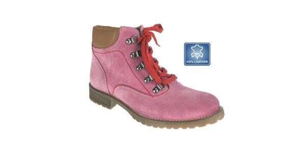 Dámské růžové šněrovací boty Beppi