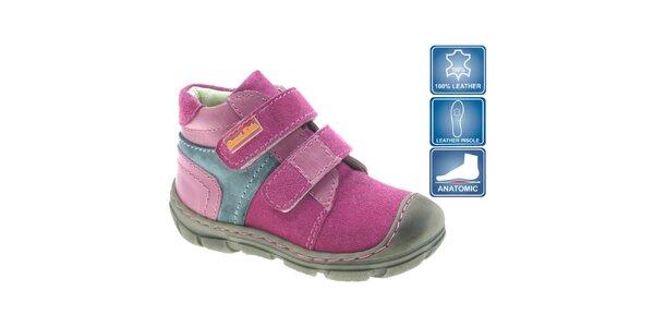 Dětské růžové kotníkové boty Beppi