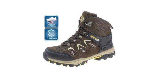 Dětské hnědé outdoorové boty Beppi