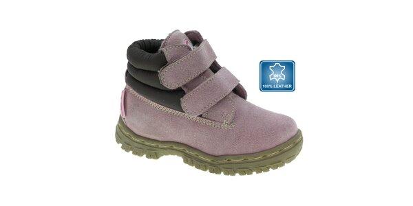 Dětské světle fialové kotníkové boty Beppi