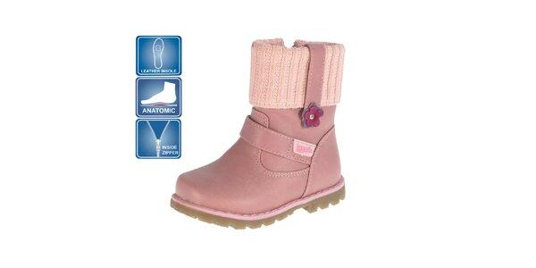 Dětské růžové anatomicky tvarovné boty Beppi