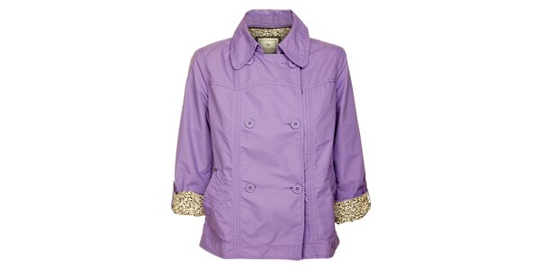 Dámský dvouřadý světle fialový kabátek Timeout