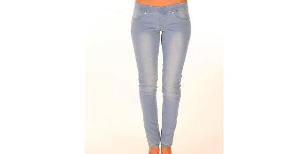 Dámské světle modré džíny s elastickým pasem New Caro
