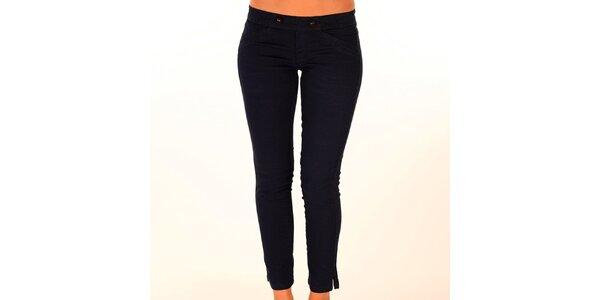 Dámské černé kalhoty s elastickým pasem New Caro