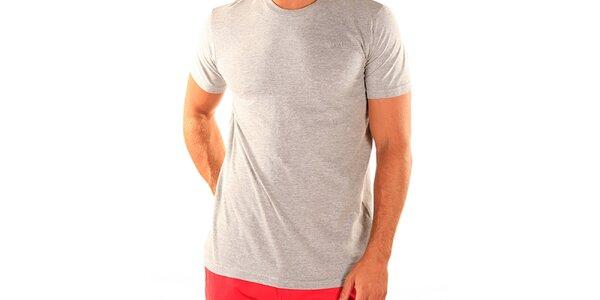 Pánské šedé tričko s krátkým rukávem New Caro